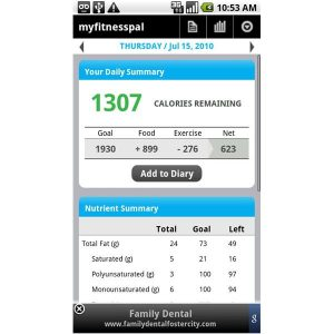 calorie counting app