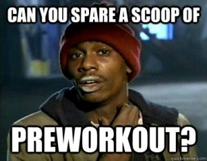 pre workout dependency