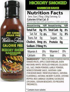 calorie free bbq sauce