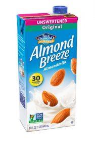 unsweetend almond milk calories