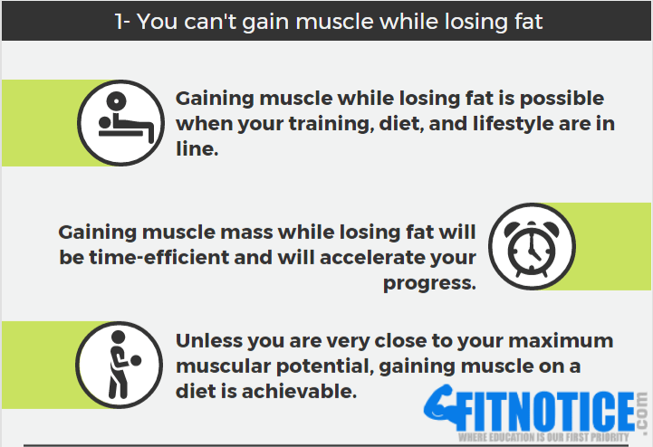 Fat Loss Myth #5: You Can't Build Muscle While Losing Fat (Recomp)